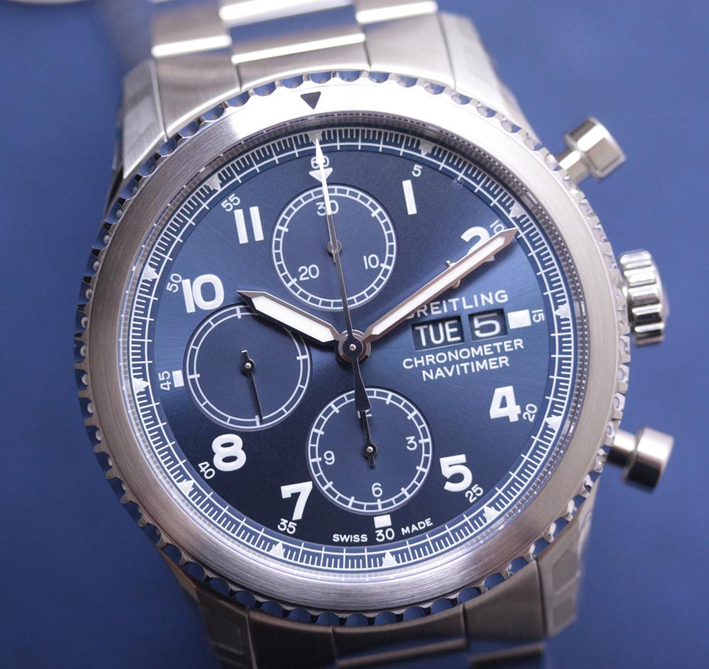 d5bd1ee13cd NEU / NEW Breitling Navitimer 8 Chronograph 43 Steel - Blue #A13314101C1A1