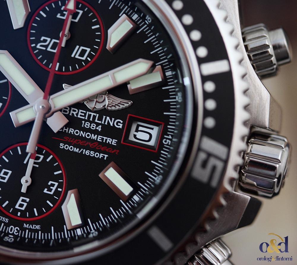 a8372a8a2d8 Breitling SuperOcean Chronograph II 44 Nero Indici Acciaio Cinturino ...
