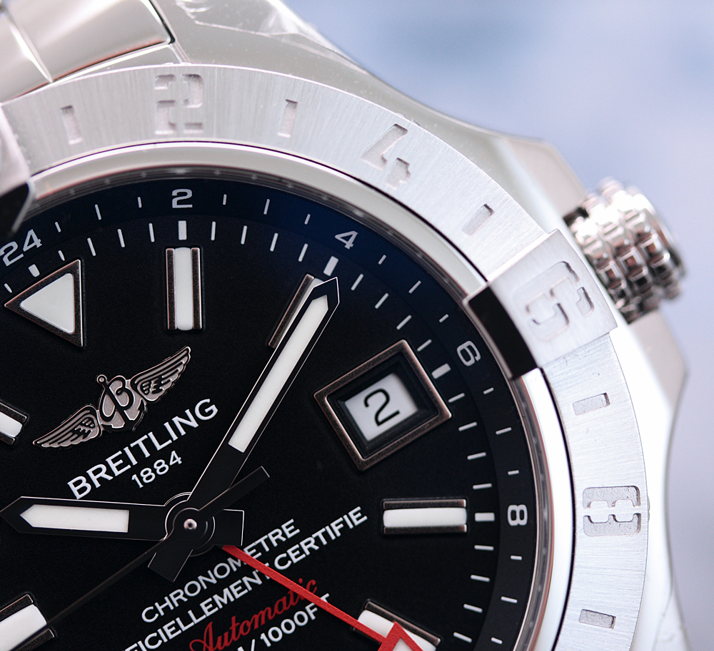 NEU-NEW-Breitling-Avenger-II-GMT-Stainless-Steel-ref-A3239011-BC35-170A