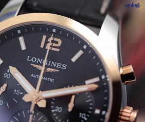 Longines Conquest Classic Crono Acciaio e Oro Rosa ref. L2.786.5.56.3