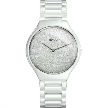 Rado True Thinline White Ceramic R27007092