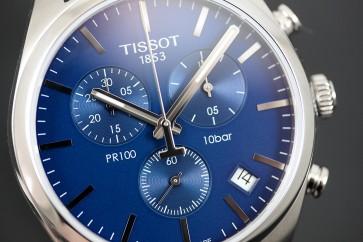 Tissot T-Classic PR 100 Chronograph Steel Blue Dial ref. T1014171104100