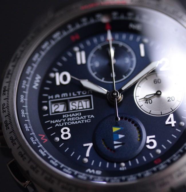 bf68b4f0 Hamilton Khaki Navy Regatta Day Date Automatic ref. H77636343 ...