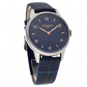 Locman 1960 Only Time 41mm Blue Dial ref. 0251A02R-00BLRG2PB