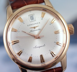 2015 Longines Conquest Heritage Rose Gold ref. L1.611.8.78.9