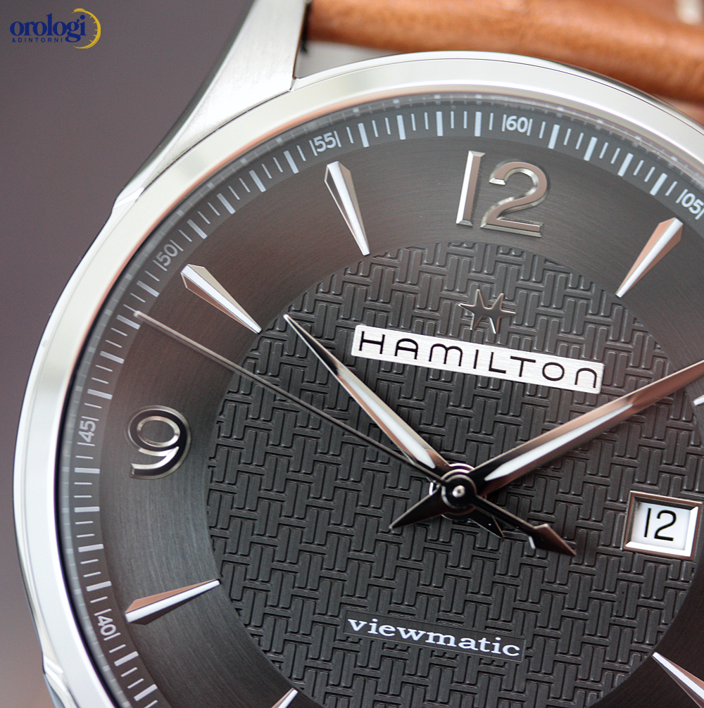 a8f8b3edc29 Hamilton Jazzmaster Viewmatic Automatic 44mm Grey Arabic Steel on Leather  Men s