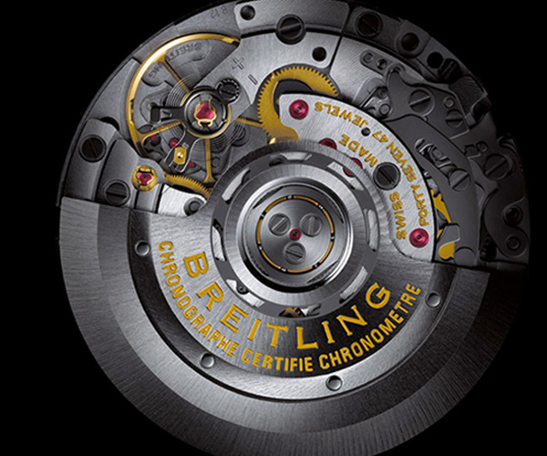 self-winding chronograph Manufacture Breitling Caliber B12